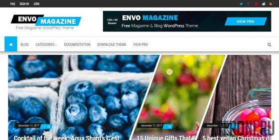 Адаптивный шаблон WordPress - Envo Magazine