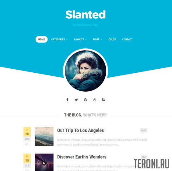 Адаптивный шаблон WordPress - Slanted