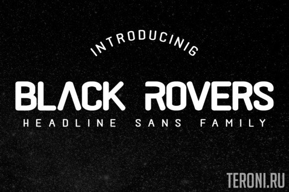 Шрифт Black Rovers